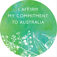 View sample of Australian Citizenship Affirmation Stickers (12 stickers per page)